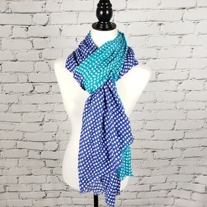 Juicy Couture Blue Polka Dot Scarf